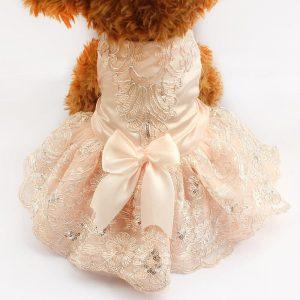Embroidered Dog Wedding Dress - PetCareSunday